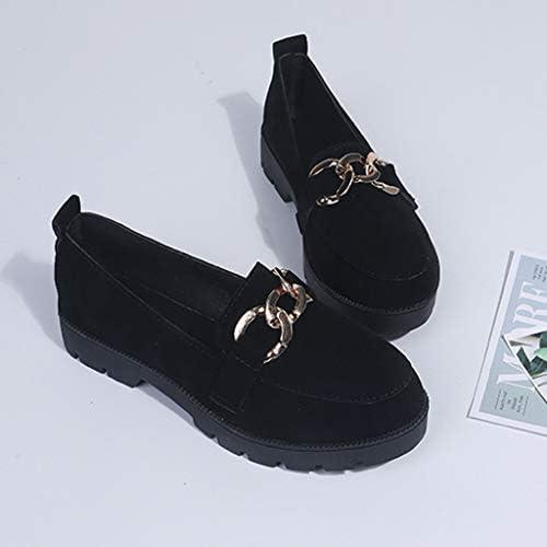 WORMENG Mocasines para Mujer con Hebillas de Piel Loafer Zapatos ...