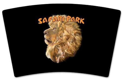 Mugzie Safari Park Travel Mug with Insulated Wetsuit Cover Black 16 oz
