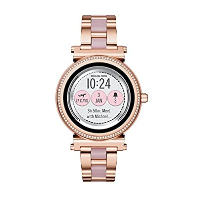 Michael Kors Access Women's 'Sofie Touchscreen' Quartz Stainless Steel Casual Watch, Color Rose Gold-Toned (Model: MKT5041) from Michael Kors Connected Watches Child Code