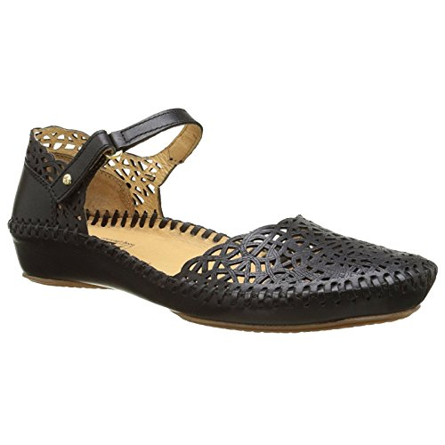 Italian Pump Leather - Pikolinos Womens Puerto Vallarta Mary Jane Sandal Black Size 39 EU (8.5-9 M US Women)