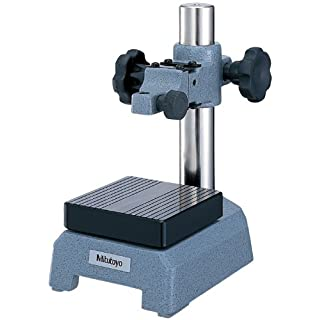 Mitutoyo 7007-10 Dial Gage Stand, 3-1/2″ Square Anvil, 3/8″ Stem Mounting Hole, 4″ Column Travel, With Fine Adjust