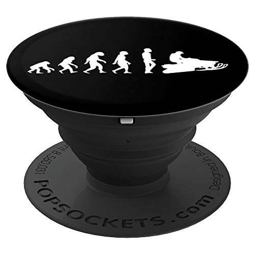 - Snowmobile Evolution I Funny Sled Rider Braap Gift Idea - PopSockets Grip and Stand for Phones and Tablets