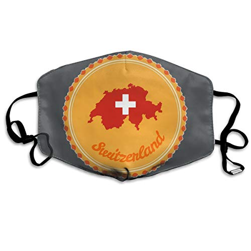 SyjTZmopre Switzerland Mouth Mask Unisex Printed Fashion Face Anti-dust Masks]()