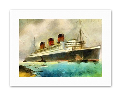 MARITIME RMS QUEEN MARY LINER CRUISE SHIP Painting Canvas art (Queen Mary Ship Pictures)