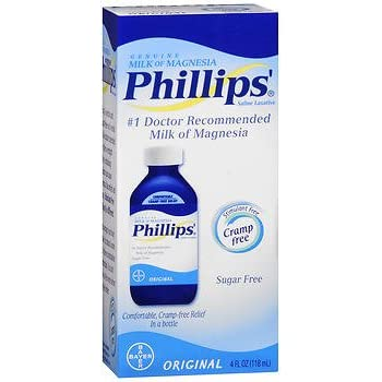 Phillips Milk of Magnesia Liquid Original - 4 oz, Pack of 4