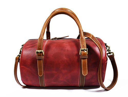 Red Leather Duffle Bag - 8