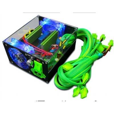 Apevia ATX-IB680W-GN ICEBERG ATX12V / EPS12V SLI Ready 680W Power Supply With 3-Color LED Lights