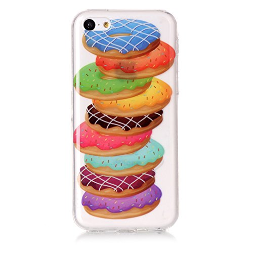 Custodia iPhone 6 Plus / 6S Plus , LH Melaleuca Donuts TPU Trasparente Silicone Cristallo Morbido Case Cover Custodie per Apple iPhone 6 Plus / 6S Plus 5.5