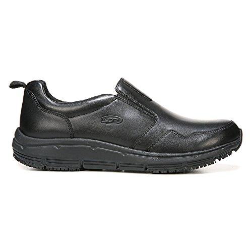 Dr. Scholl's Men's Beta Slip Resistant Slip-On Shoe,Black Leather,US 8 M
