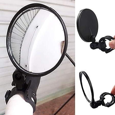 small Hanbaili bar End Bike Mirrors 1 PCS Wide-angle handlebar rotatable and adjustable mirror with Adjustable silica gel bandage 360 Degree Rotation Bicycle Mirror