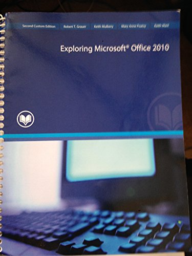 exploring microsoft office 2010 volume 1 Likewise review exploring microsoft office 2010 volume 1 excel chapter test bank by marie faerber online searching for most sold book or reading source in the world.
