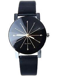 BLACKMAMUT Reloj Hombre y Mujer Análogo Constellation con Zirconias Incrustadas Manecillas Pequeñas y Elegantes Incluye estuche Blíster - Negro