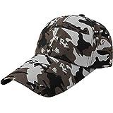 Quaanti Camouflage Baseball Cap Men Special Tactical Baseball Hat Boys Snapback Trucker Cap Classic Plain Work Sports Caps (E)