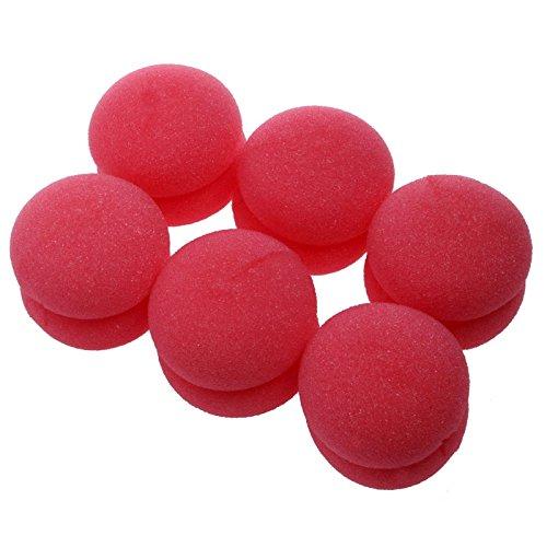 Thobu 6 pcs Balls Hair Rollers Curlers Bun Round DIY Soft Foam Sponge Tools