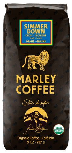 Marley Coffee, Organic Simmer Down Decaffeinated, Whole Bean Coffee, 8 Ounce (Organic Decaf Whole Bean Coffee compare prices)