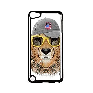 Lion with Cap Black Hard Plastic Case for Apple? iPod Touch 5th Gen by Gangtoyz + FREE Crystal Clear Screen Protector