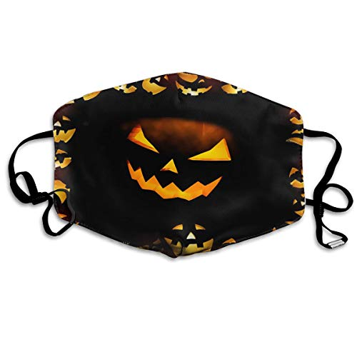(MISSMORN Face Masks Anti-Dust Mouth Cover Stylish Halloween Calabazas Washable And Reusable Mask Warm Windproof For Women Men Boys Girls)