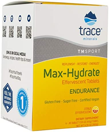 Max Hydrate Endurance Fizzing Tablets 4 Tubes
