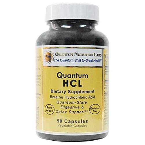 Hcl Minerals Betaine Nutrition - Quantum HCL, Vegan Product, 90 Capsules (Betaine Hydrochloride Acid Caps) for Quantum-State Digestive and Detoxification Support