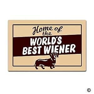 """msmr Felpudo entrada alfombrilla de suelo del mundo mejores Wiener divertido felpudo para interiores Felpudo decorativo tela no tejida Top 18""""x30"""""""