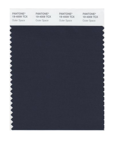 Pantone 19-4009 TCX Smart Color Swatch Card, Outer Space by Pantone