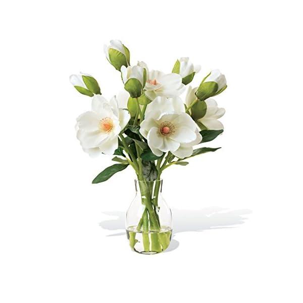 Petals – Magnolia Silk Flower Arrangement – Handcrafted – Amazingly Lifelike – 15 x 10 Inches