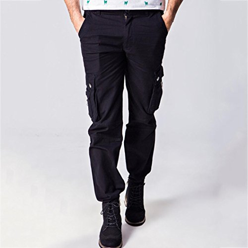 Allywit Men's Cotton Multi-Pockets Work Pants Tactical Outdoor Military Army Cargo Pants Big and Tall by Allywit (Image #3)