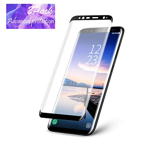 LEDitBe Galaxy S9 Screen Protector, Full Screen Tempered Glass Screen Protector Film, Edge to Edge Protection Screen Cover Saver Guard 3D 9H Hardness Samsung Galaxy S9 Black by LEDitBe