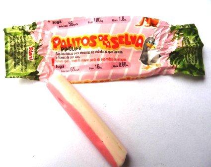 PALITOS de la SELVA - Caramelos Masticables Sabor Frutilla y Vanilla. Aprox. 180 palitos - 600 gr.: Amazon.com: Grocery & Gourmet Food