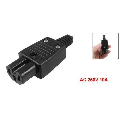 AC 250/V 10/A SODIAL R IEC320/C15 - Spina femmina nera