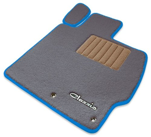 クラッツィオ ( Clazzio ) 【 フロアマット 】 トヨタ プリウス PHV ZVW35 【1台分セット】 (グレー×ベージュ×ブルー) ET-1072-Y101-GBE B00SQRB6IO ブルー ブルー