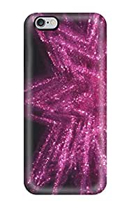 Iphone 6 Plus Hard Back With Bumper Silicone Gel Tpu Case Cover Glittery Star