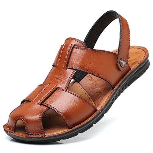 サンダル ビーチサンダル リゾート スポーツサンダル メンズサンダル 大きい対応 高級感軽量サンダル 春夏用サンダル 滑り止め 柔らかい靴 2WAYサンダル ブラウン ブラック28.5cm 28.0cm