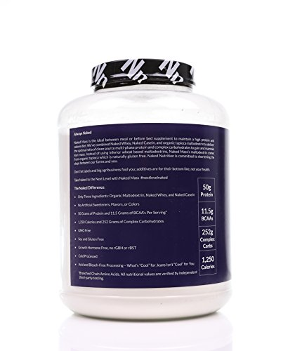 Vanilla Weight Gainer Protein Supplement   Less Naked