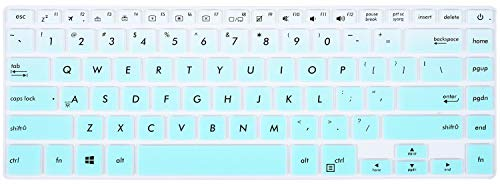 "Keyboard Cover Compatible ASUS VivoBook F510UA F510UF/ ASUS VivoBook S 15.6""/ ASUS VivoBook S510UA S510UN S510UQ 15.6""/ ASUS ZenBook Pro UX550VE UX580 15.6 inch[No Numeric Keypad], Ombre Mint Green"