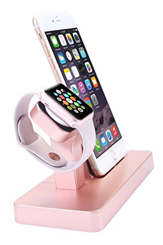 Apple Watch Stand, iPhone Docking Station, 2-in-1 Multi-Charging Station Hub for Apple Watch Series and All Smart Phone by SPRAWL (Image #2)
