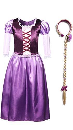 Rapunzel Series Girls Costume Dress and Headband, 7. ()