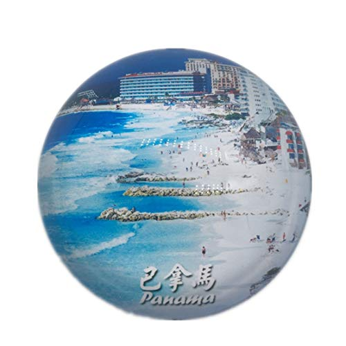 Panama Refrigerator Fridge Magnet City World Crystal Glass Handmade Tourist Travel Souvenir Collection Gift Strong Word Letter Sticker Kids