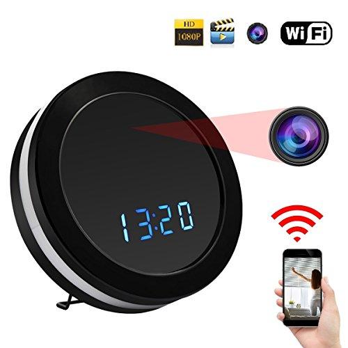 SIKVIO WIFI Hidden Camera Alarm Clock Camera HD 1080P Spy Camera Security Camera Wireless Nanny surveillance Camera with Motion Detection Night Vision
