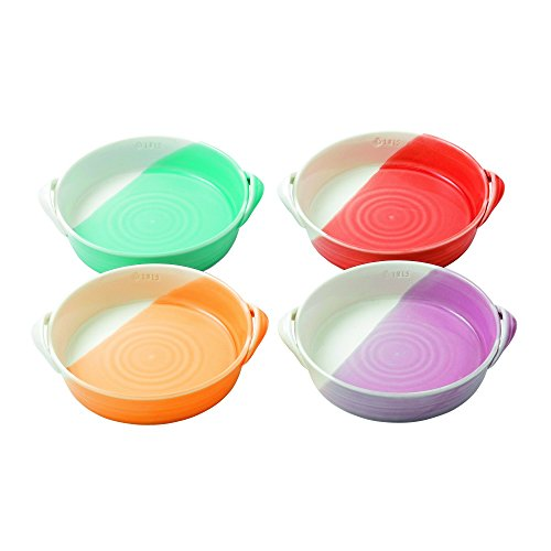 """Royal Doulton 7.2"""" 1815 Bright Colors Mixed Patterns Serving Dishes (Set of 4), Mini, Multicolor"""