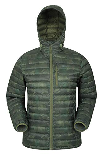 Mountain Warehouse Henry II Mens Down Padded Jacket – Water Resistant Coat, Packaway Bag Outerwear, Insulated Winter…
