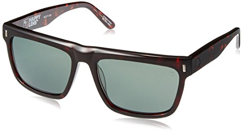 Spy Optic Unisex Broderick Happy Lens Collection Sunglasses, Dark Tort/Grey Green, One Size Fits All