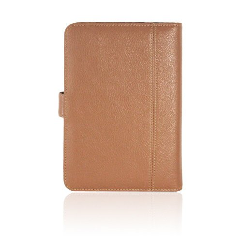 """Navitech Brown Faux Leather Case Cover Sleeve Compatible with The Nook HD 7"""" inch ereader Tablet"""