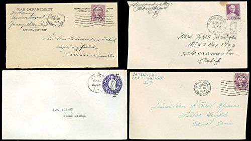1933-4, LOT/8 CANAL ZONE MAILED COVERS, Overprints, War Dept, Cristobal, MORE!