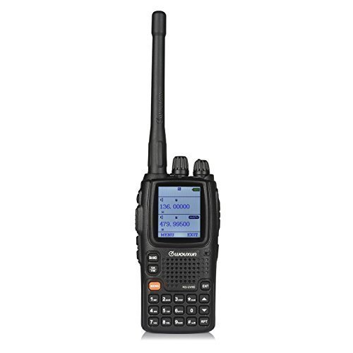 WouXun KG-UV9D Multi-Band Multi-functional DTMF Two-way Radio, Dual-Band Walkie Talkie, 7 bands included Air Band, 136-174MHz/400-480MHz, with 2 antennas + car charger + Speaker, Black by WouXun