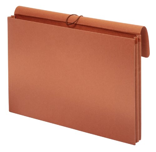 Globe-Weis/Pendaflex Tabloid Wallet File, 12 x 18 Inches, 3.5-Inch Expansion, Elastic Closure, Brown (B1060E)
