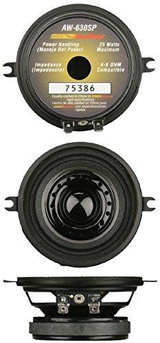 "Install Bay AW-630SP 3 1/2"" Car Audio Dual Cone Speaker (AW630SP)"