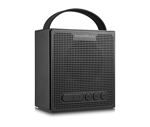 AncordWorks Wireless Bluetooth Speaker - Portable & Lightweight Sound System - Stylish, Durable & Waterproof Design, Crystal Clear Audio ,Sensitive FM Radio with LED Digital Alarm Clock (Black)