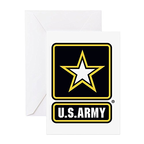 - CafePress - US Army Gold Star Logo Greeting Cards - Greeting Card, Note Card, Birthday Card, Blank Inside Glossy