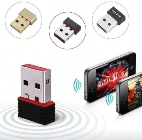 Click2u Mini USB WiFi //Wireless//LAN 150Mbps Network Adapter 802.11AC//N//G//B Dongle Black